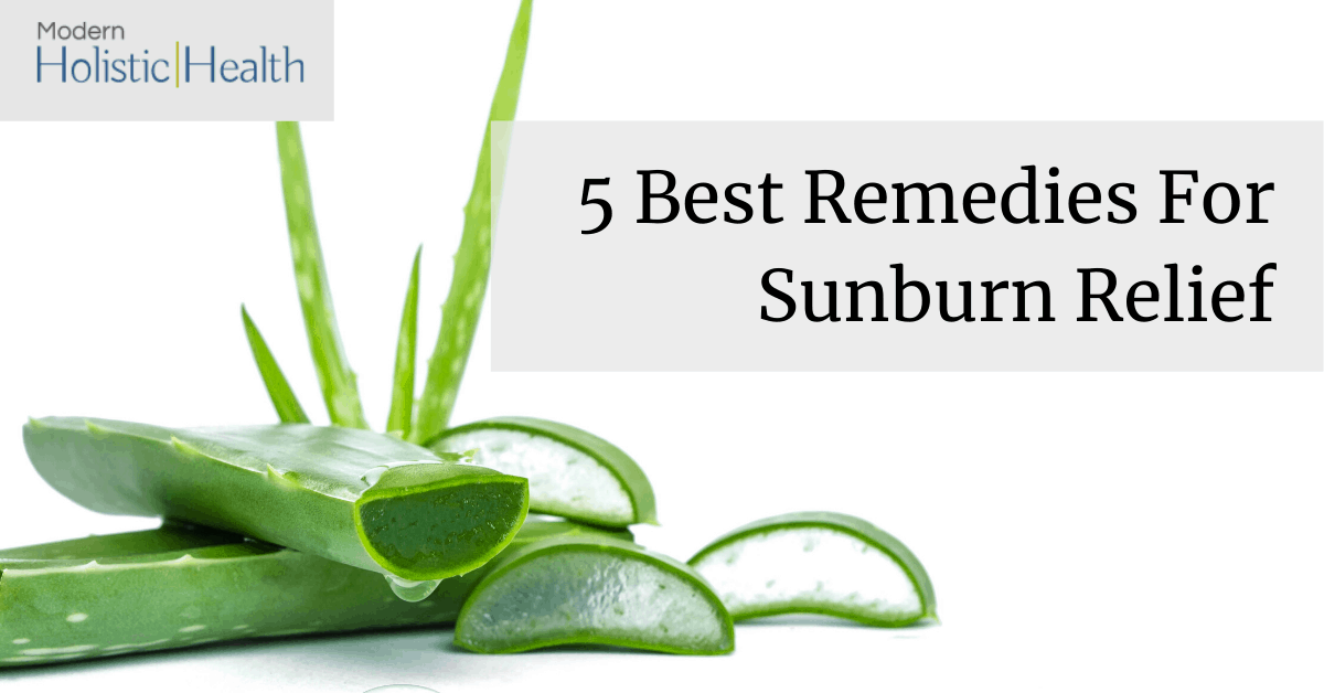 natural remedies for sunburn relief